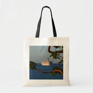 Sail Away at Sunset I Cruise Vacation Photography Tote Bag