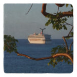Sail Away at Sunset I Cruise Vacation Photography Trivet