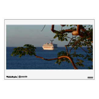 Sail Away at Sunset I Cruise Vacation Photography Wall Sticker