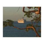 Sail Away at Sunset I Cruise Vacation Photography Wood Wall Decor