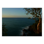Sail Away at Sunset II Tropical Seascape Greeting Card