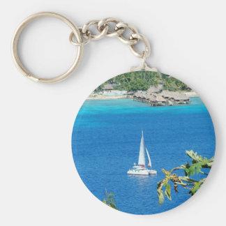 Sail Away Basic Round Button Keychain