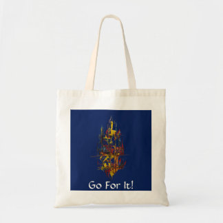 Sail Away-Go For It-Blue Tote Bag