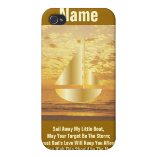 Sail Away My Little Boat iPad Case4-Cust. iPhone 4/4S Cover