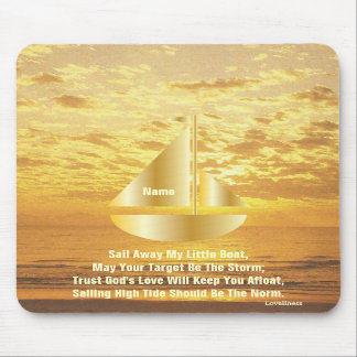 Sail Away My Little Boat Mousepad-Cust.