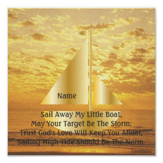 Sail Away My Little Boat Poster-Customize