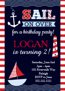 nautical birthday invitations zazzle