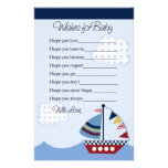 Sail Away/Nautical/Boat #2 Wishes for Baby Letter Personalized Stationery