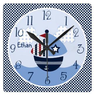 Sail Away/Nautical/Boats Kid's Baby Nursery Clock