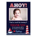 Sail Away Nautical Photo Thank You Note Card