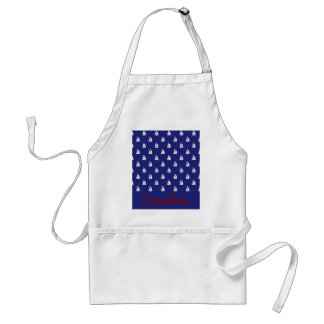 Sail Away on Blue Nautical Preppy Personalized Apron