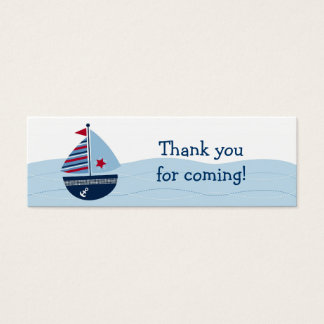 Sail Away Sailboat Baby Shower Favor Gift Tags