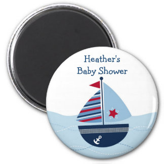 Sail Away Sailboat Baby Shower Favor Magnets