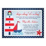 Sail Away Sailboat Baby Shower Invite
