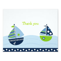 Sail Away Sailboat Flat Thank You Note Cards