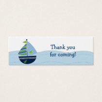 Sail Away Sailboat Nautical Party Favor Gift Tags