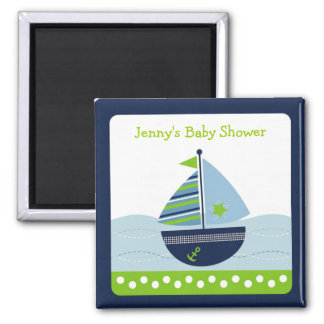 Sail Away Sailboat Nautical Party Favor Magnets