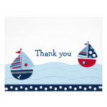 Sail Away Sailboat Nautical Thank You Note Cards Personalized Invitation