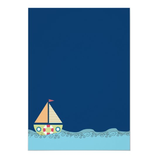 Sail Away Sailing Boat Boys Birthday Invite