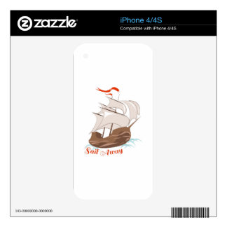 Sail Away Decal For The iPhone 4S