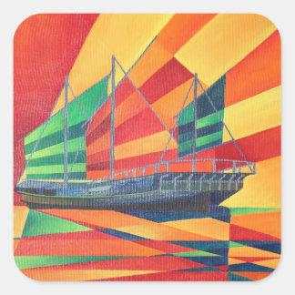 Sail Away Square Sticker