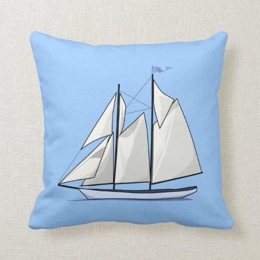 Sail Away Throw Pillow Zazzle