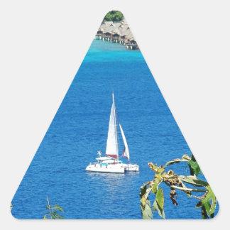 Sail Away Triangle Sticker