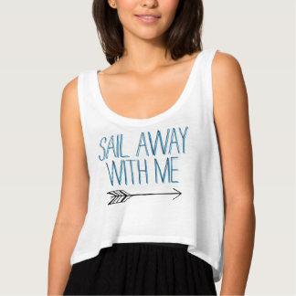 Sail Away with Me-White Tank Top