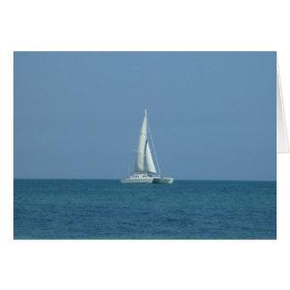 sail bahamas greeting cards