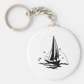 Sail Basic Round Button Keychain