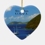 Sail Boat at Saint John Christmas Tree Ornaments