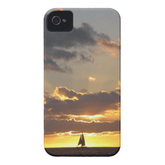 Sail boat at sunset iPhone 4 covers