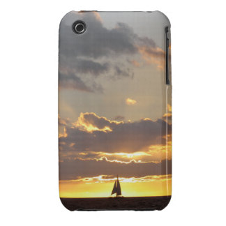 Sail boat at sunset iPhone 3 cover