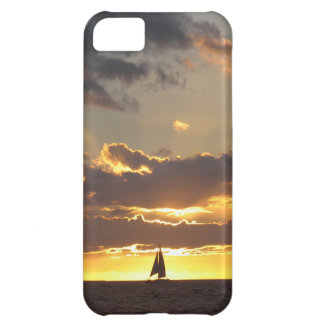Sail boat at sunset cover for iPhone 5C