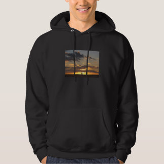 Sail boat at sunset hoodie