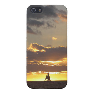 Sail boat at sunset cover for iPhone 5