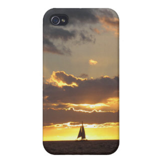 Sail boat at sunset iPhone 4/4S cases