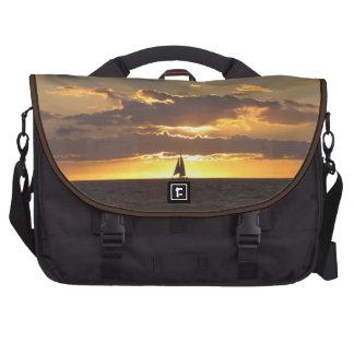 Sail boat at sunset bag for laptop