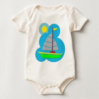 Sail Boat Baby Bodysuit