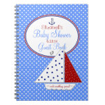 Sail Boat Baby Shower Guest Book | Spiral Notebook