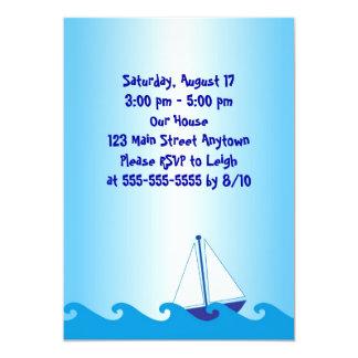 Sail Boat Birthday Invitation