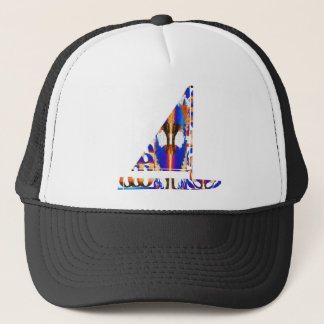 Sail Boat  Blue Trucker Hat