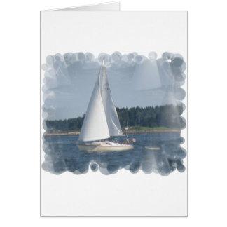 Sail Boat Bubbles Greeting Card