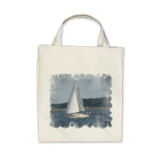 Sail Boat Bubbles Grocery Tote Tote Bag