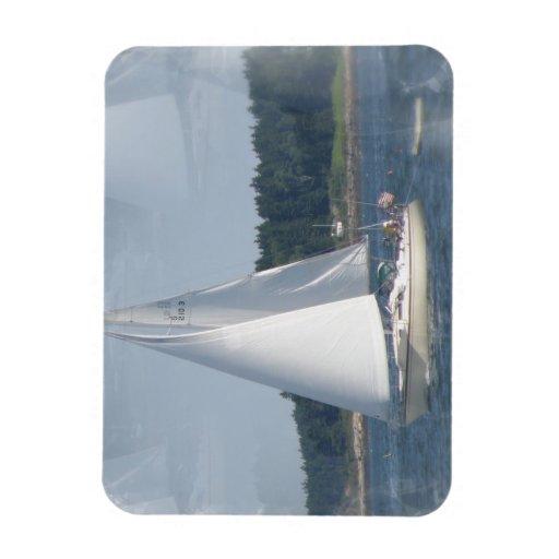 Sail Boat Bubbles Premium Magnet Rectangular Magnet