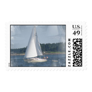 Sail Boat Bubbles Stamp