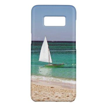 Beach Themed Sail boat by the beach Case-Mate samsung galaxy s8 case
