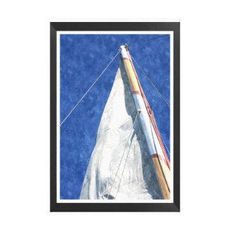Sail boat canvas watercolor