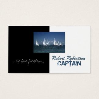 Sail Boat Captain Ship Nautical Card