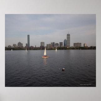 Sail Boat, Charles River, Boston, MA Poster